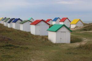Normandy beach huts