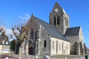 Sainte-Mère-Église church in Normandy