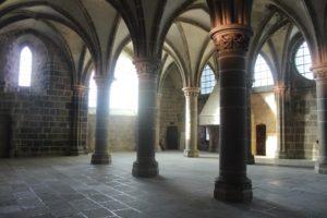 Salle des Chevaliers at Mont-Saint-Michel