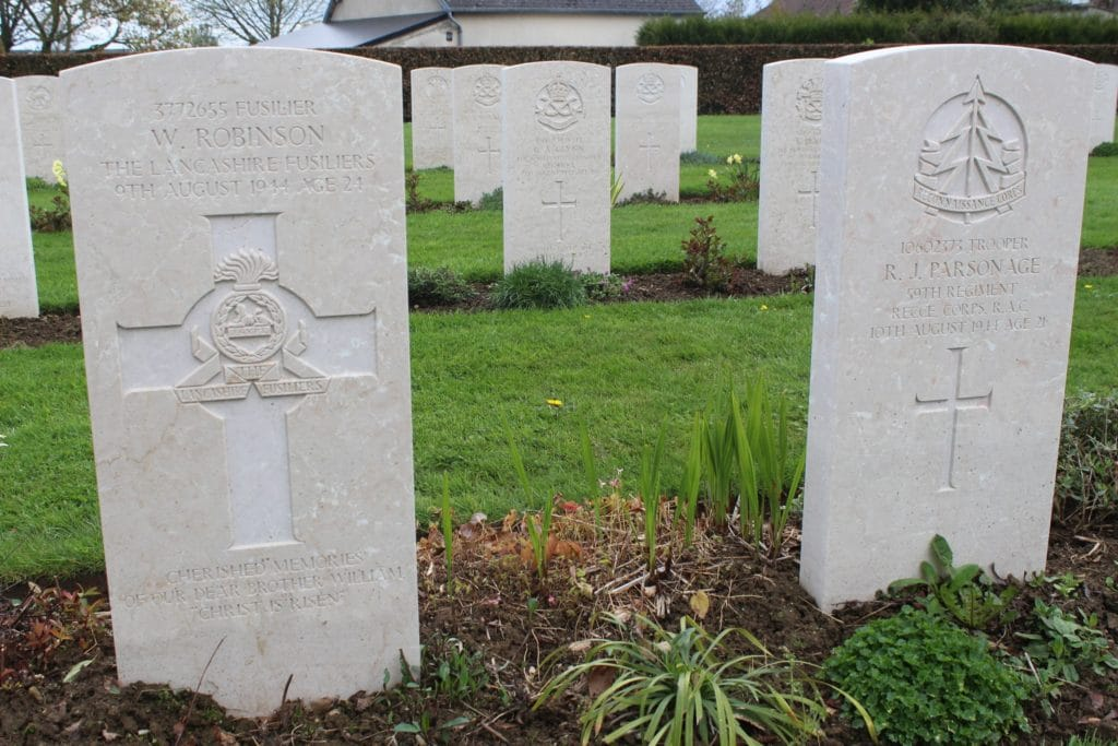 William Robinson grave Bayeux War Cemetery
