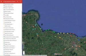 Normandy landing beaches map