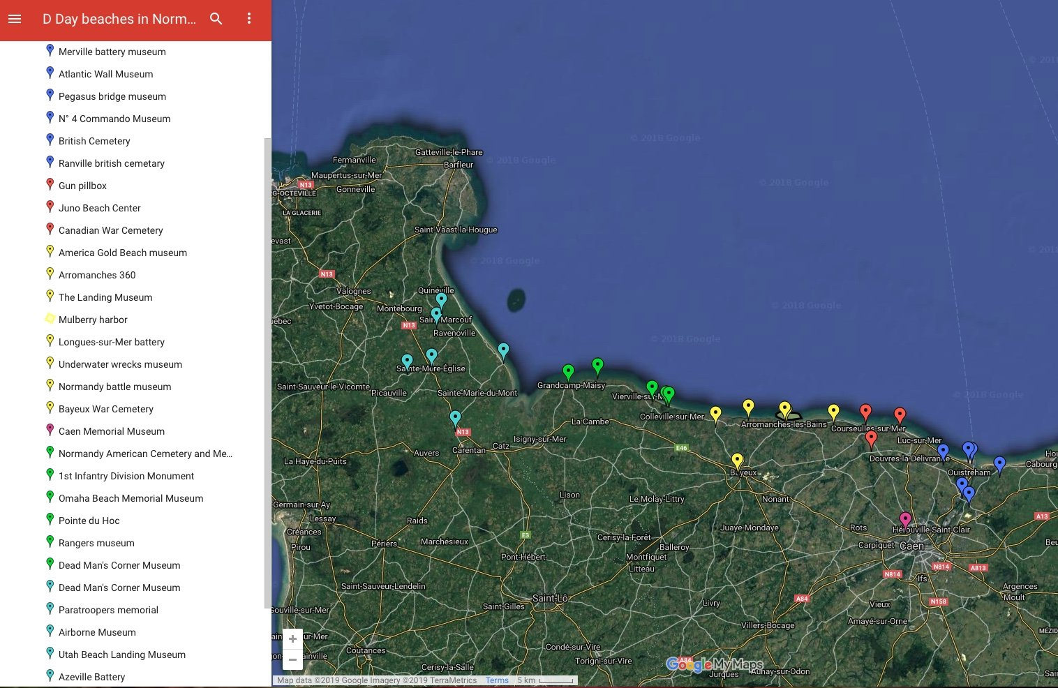 Normandy landing beaches map