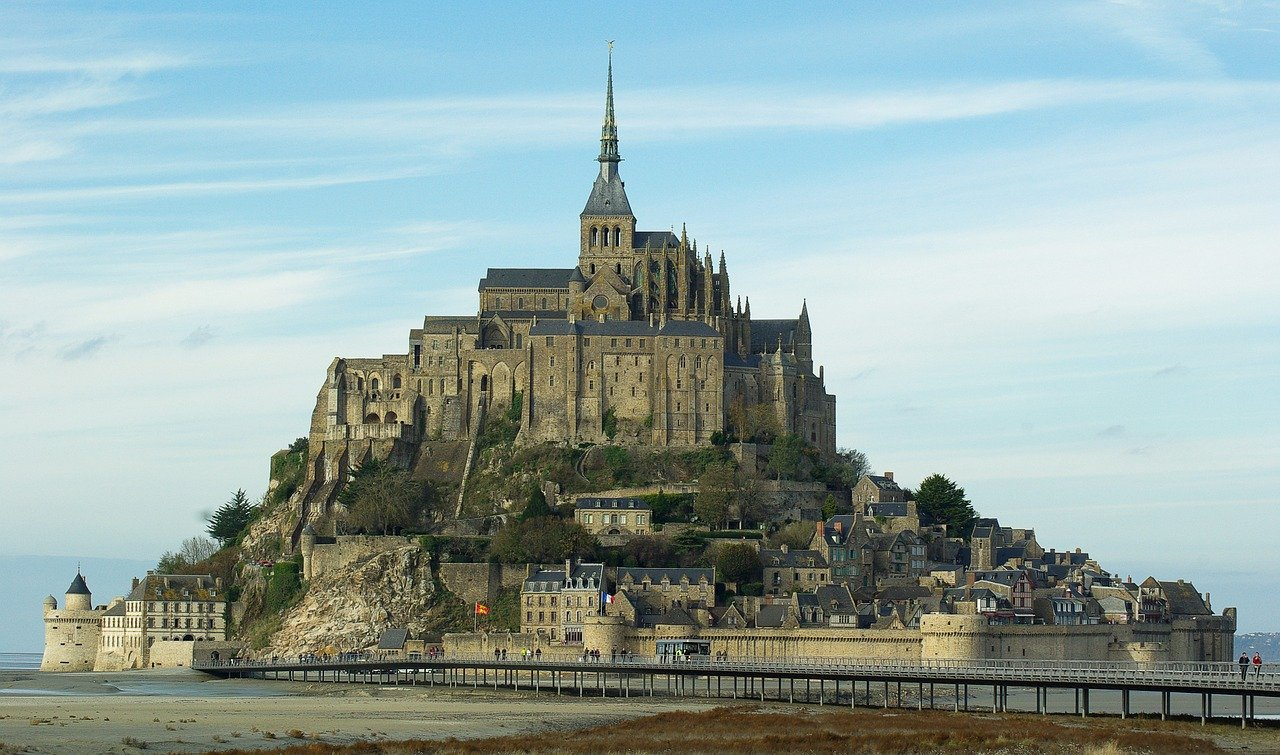 Mont-Saint-Michel From a Drone