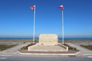 British memorial on Sword Beach
