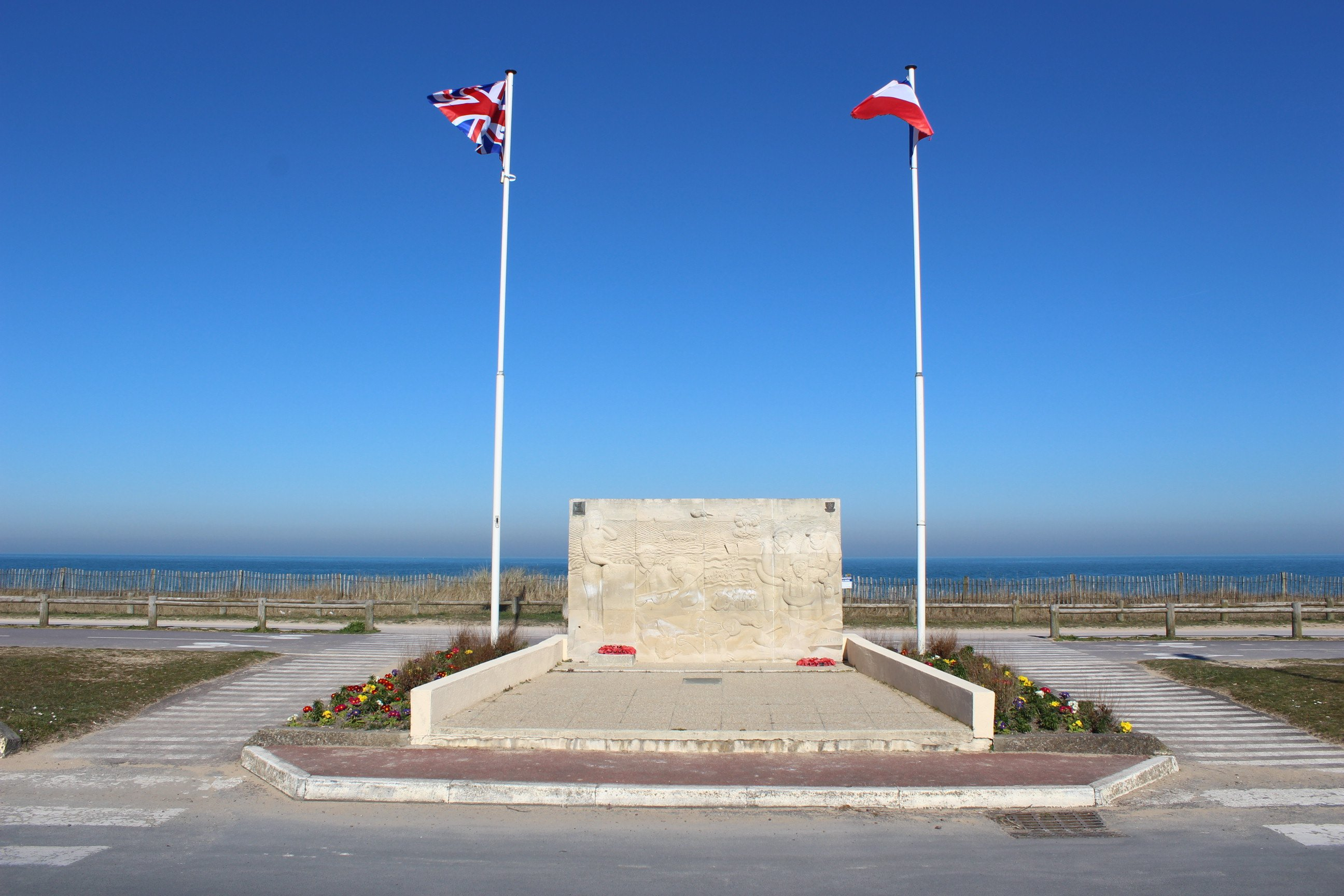 British memorial on Sword Beach