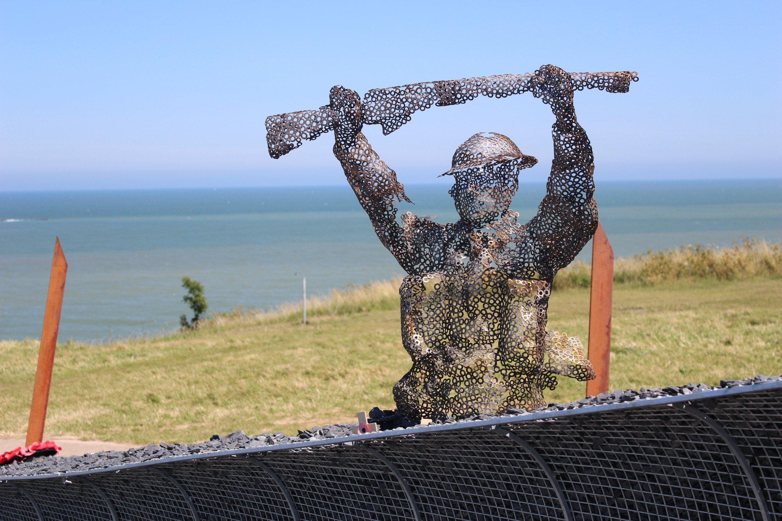 D-Day sculpture