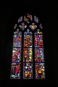 Villedieu stained glass window